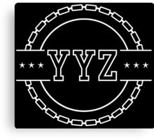YYZ Chain Crest Canvas Print