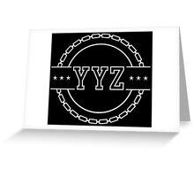 YYZ Chain Crest Greeting Card