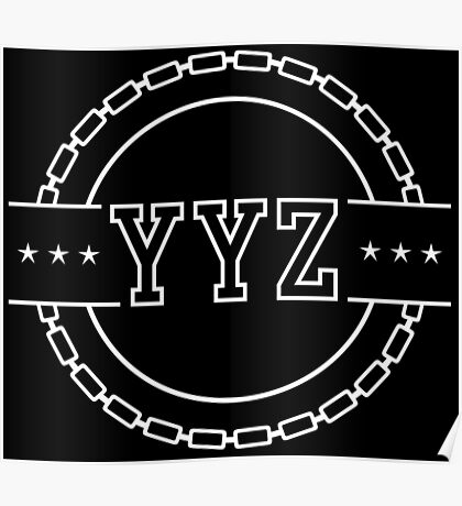 YYZ Chain Crest Poster