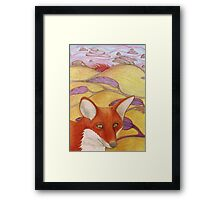 Foxy Fields Framed Print