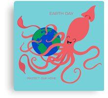 Earth Day Squid Canvas Print