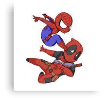 Spiderman win Canvas Print