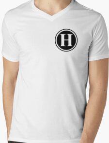 Circle Monogram H Mens V-Neck T-Shirt