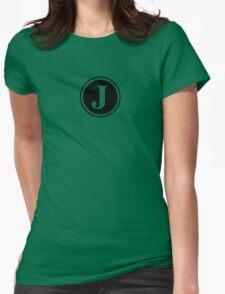 Circle Monogram J Womens Fitted T-Shirt
