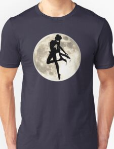 Sailor Moon Silhouette in front of Realistic Moon Unisex T-Shirt