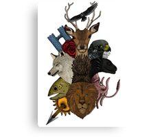 Game of animal. Adventure in seven kingdom (color version) Canvas Print