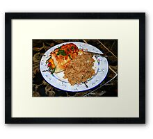 Thai-Style Chicken Framed Print