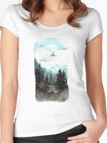 Surveying the slopes  Women's Fitted Scoop T-Shirt