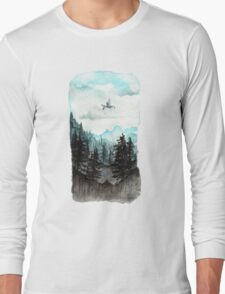 Surveying the slopes  Long Sleeve T-Shirt