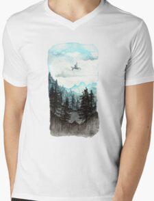 Surveying the slopes  Mens V-Neck T-Shirt