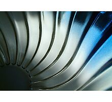 Blue glass Photographic Print