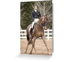 Dressage Horse Portrait Greeting Card