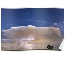 Springtime Thunderstorm On the Colorado Plains Poster