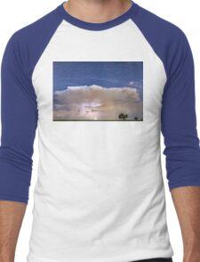 Springtime Thunderstorm On the Colorado Plains Men's Baseball ¾ T-Shirt