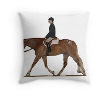 Appaloosa Hunter Under Saddle Horse Portrait Throw Pillow