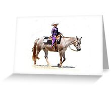 Appaloosa Youth Western Pleasure Portrait Greeting Card