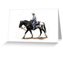 Appaloosa Working Partner Horse Portrait Greeting Card