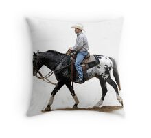 Appaloosa Working Partner Horse Portrait Throw Pillow