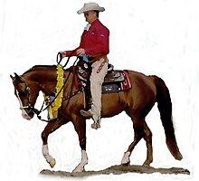 Arabian Western Pleasure Horse Portrait by Oldetimemercan