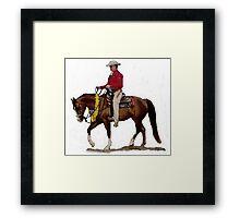 Arabian Western Pleasure Horse Portrait Framed Print
