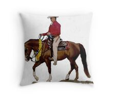 Arabian Western Pleasure Horse Portrait Throw Pillow