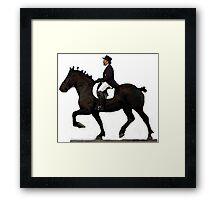 Draft Horse Under Saddle Portrait Framed Print