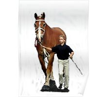Belgian Draft Horse Youth Showmanship Portrait Poster