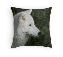 White Wolf Throw Pillow