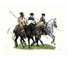 The Conquestadors Lusitano Horse Portrait Art Print