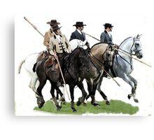 The Conquestadors Lusitano Horse Portrait Canvas Print