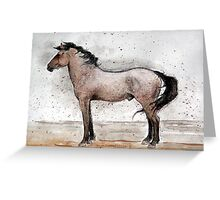 Mustang Horse Portrait Greeting Card