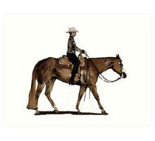 Paint Horse Western Pleasure Portrait Art Print