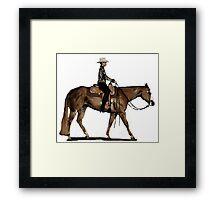 Paint Horse Western Pleasure Portrait Framed Print