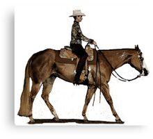 Paint Horse Western Pleasure Portrait Canvas Print