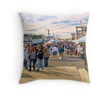 Columbus Day Italian Festival Seaside Heights, New Jersey Throw Pillow