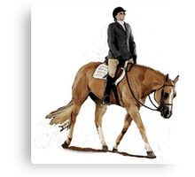 Palomino Quarter Horse Hunter Under Saddle Horse Portrait Canvas Print