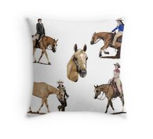 Palomino Quarter Horse Versatility Portrait Throw Pillow
