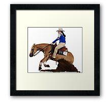 Palomino Quarter Horse Reining Horse Portrait Framed Print