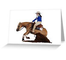 Palomino Quarter Horse Reining Horse Portrait Greeting Card
