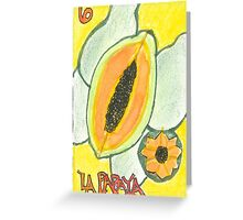 La Papaya Greeting Card