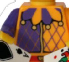 LEGO Jester with cards Sticker