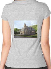 St.Modans Kirk , Benderloch , Scotland Women's Fitted Scoop T-Shirt