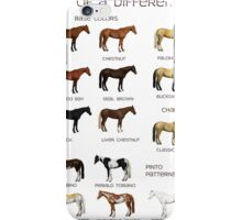 Horse Colors Poster iPhone Case/Skin