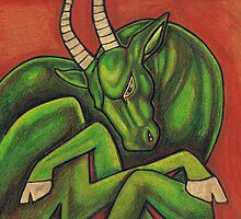 Envy (The Green Goat) by Lynnette Shelley