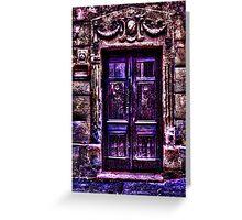 Old European Door Fine Art Print Greeting Card