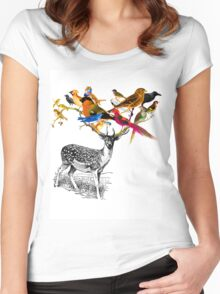 DEER BIRDY Women's Fitted Scoop T-Shirt