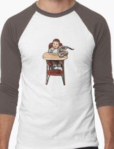 Baby playing with Rattler Men's Baseball ¾ T-Shirt