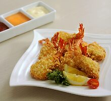 Deep Fried Crispy prawns by Charuhas  Images