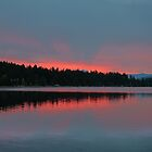 ruby red on blue dawning by axieflics
