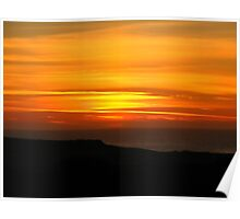 Sunset in Marin County California Poster